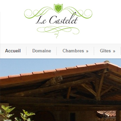 Mise en place des sites du Castelet et Le Castelet Events.